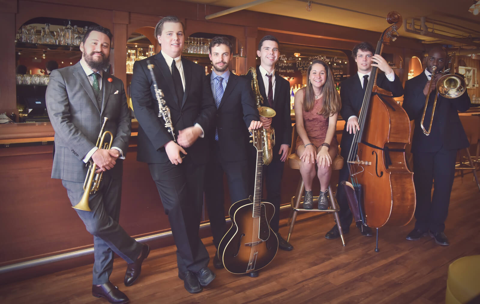 Beantown Swing Orchestra Small Group at Capo Supper Club (photo by R. Trumbour)