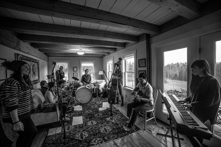 The 9-piece band's annual weekend retreat to a very rural town in central Vermont, November 18-19, 2017.